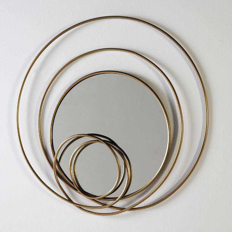 Mirror 80X7X80 Glass Metal Golden