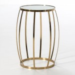 Auxiliary Table 45X45X61 Mirror Metal Golden