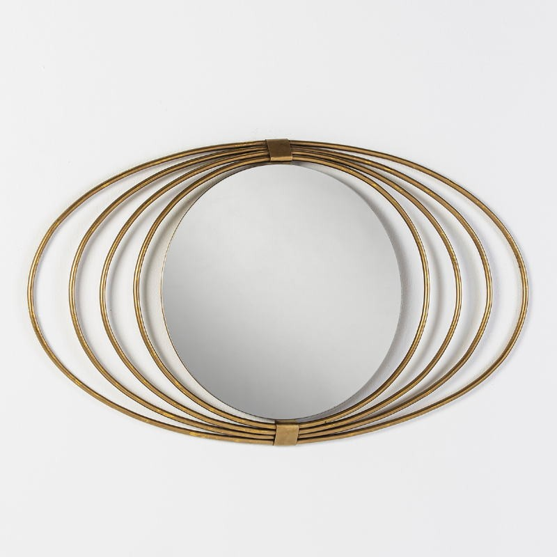 Mirror 91X3X53 Glass Metal Golden - image 51266