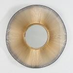 Espejo 75X4X75 Cristal Metal Dorado Negro