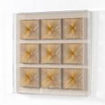 Tableau 80x7x80 Fils Doré Acrylique Transparent
