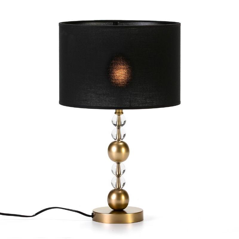 Lampe Auf Tisch Ohne Bildschirm 13X13X33 Metall/Acryl Golden/Transparent