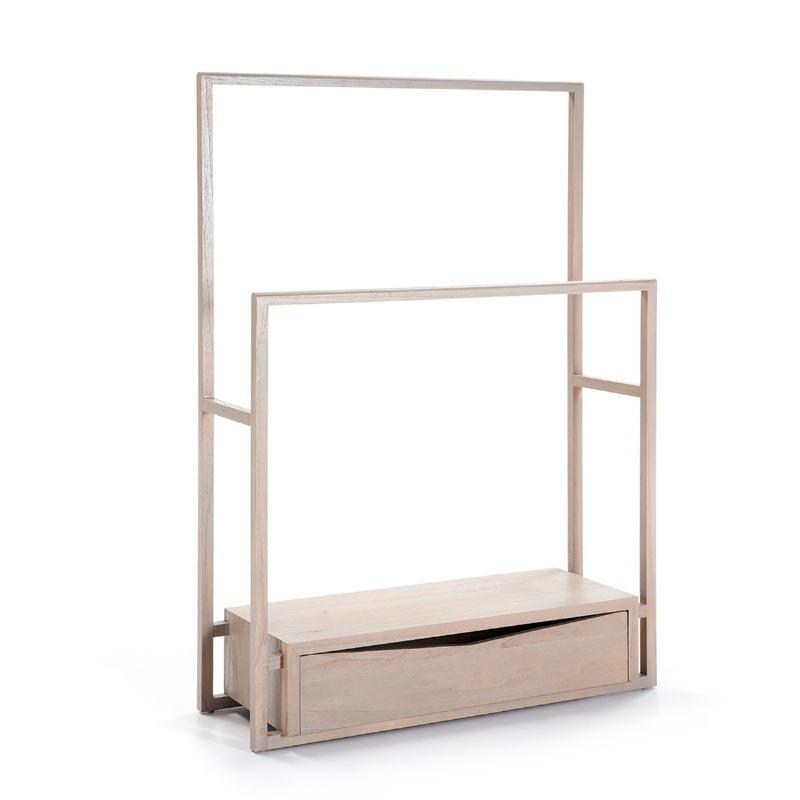 Kleiderständer / Hosenbügler 103X36X150 Holz Grau - image 51309