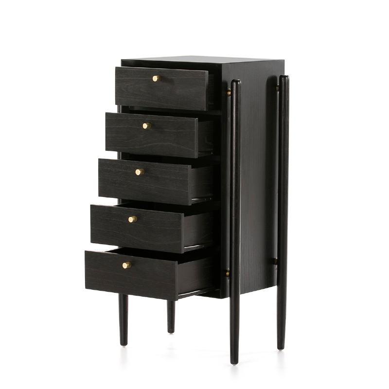 Chiffonier 60X40X110 Wood Black - image 51413