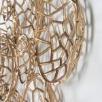 Escultura De Pared 120X10X70 Metal Dorado