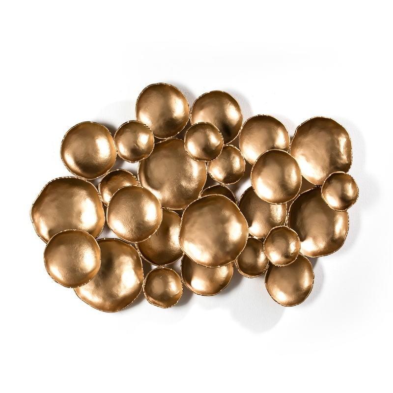 Wall Sculpture 121X10X70 Metal Golden