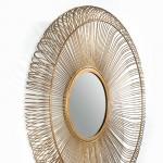 Miroir 76x7x76 Verre Métal Doré