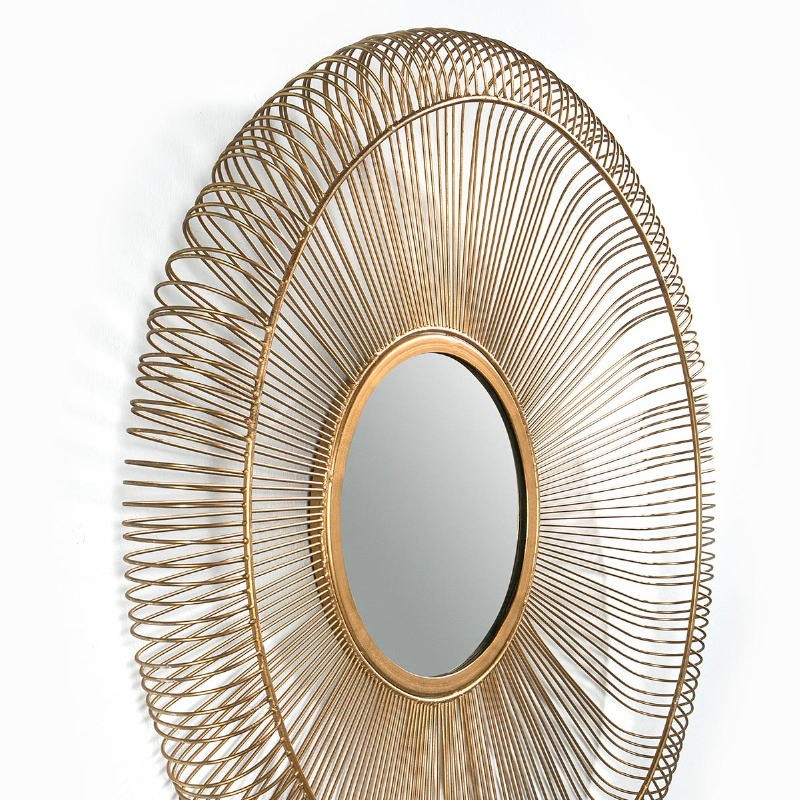 Mirror 76X7X76 Glass Metal Golden - image 51429