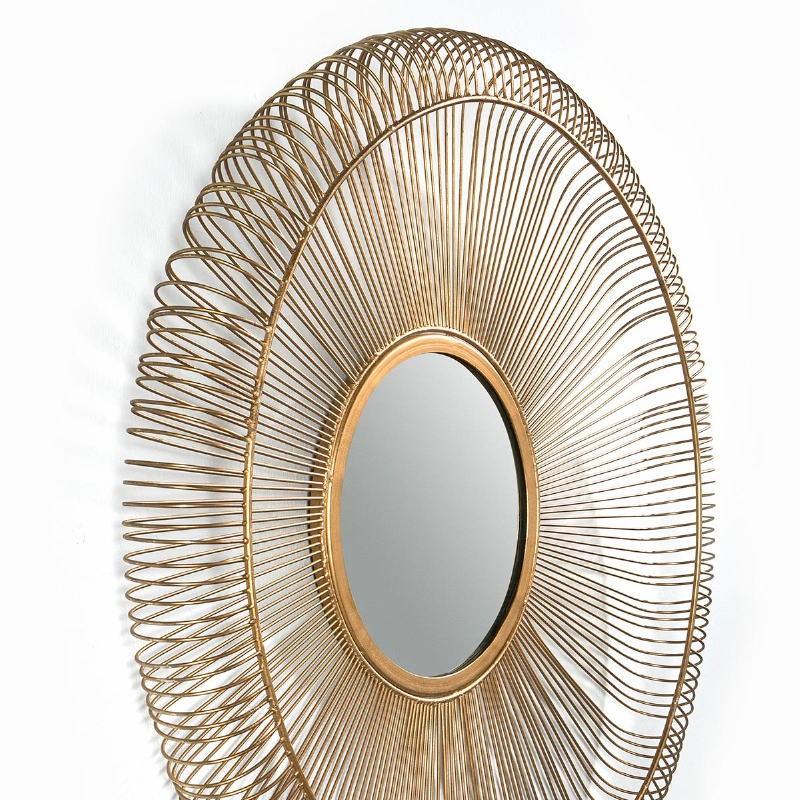Specchio 76X7X76 Vetro Metallo Dorato - image 51429