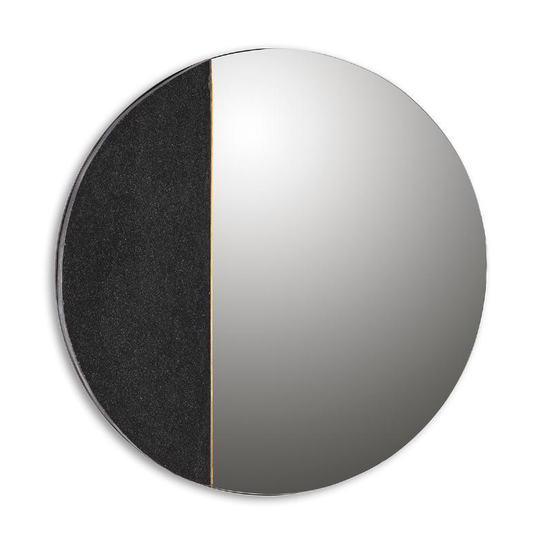 Specchio 88X2X88 Vetro Granito Nero