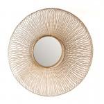 Specchio 112X10X112 Vetro Metallo Dorato