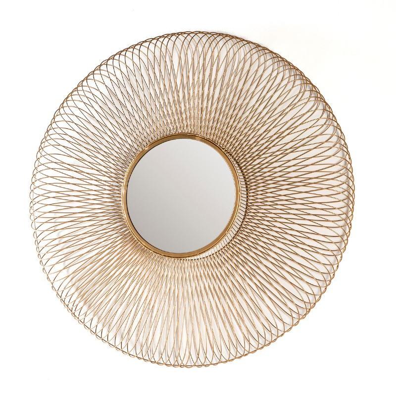 Miroir 112x10x112 Verre Métal Doré