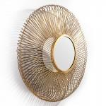Espejo 112X10X112 Cristal Metal Dorado
