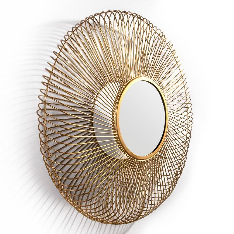 Mirror 112X10X112 Glass Metal Golden - image 51447