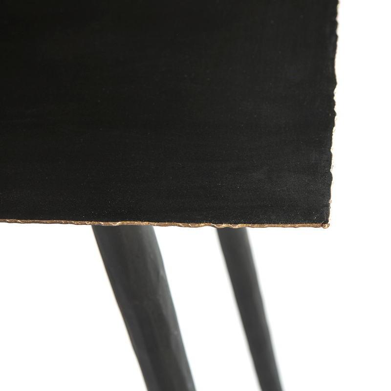 Console 83x38x75 Métal Noir Doré - image 51489