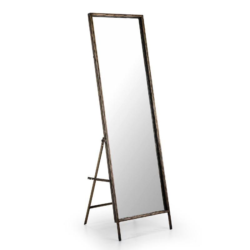 Specchio 50X7 68X170 Vetro Metallo Dorato