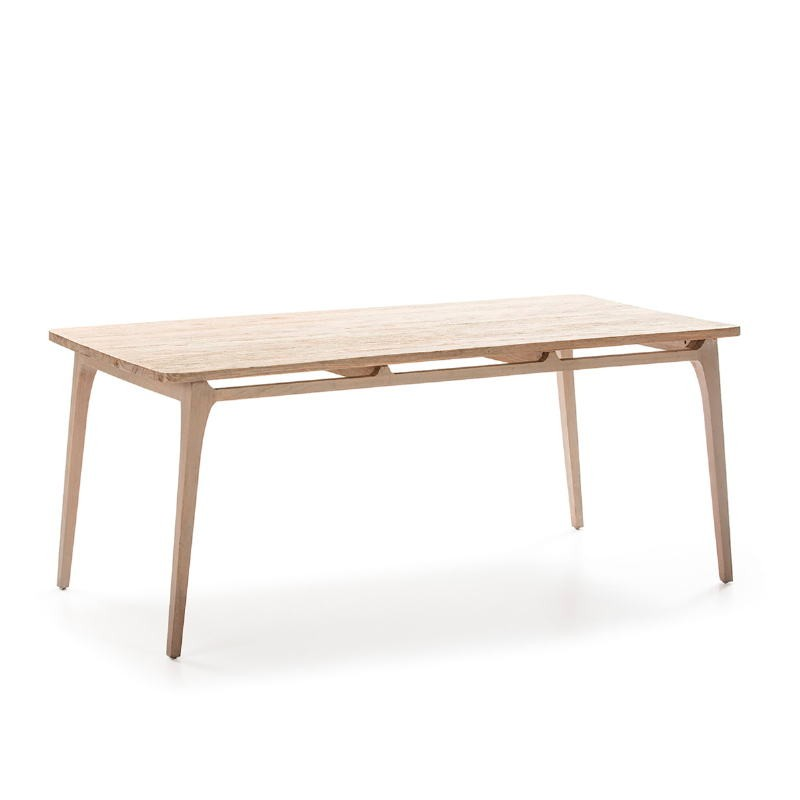 Table à Manger 180x90x76 Bois Gris - image 51525