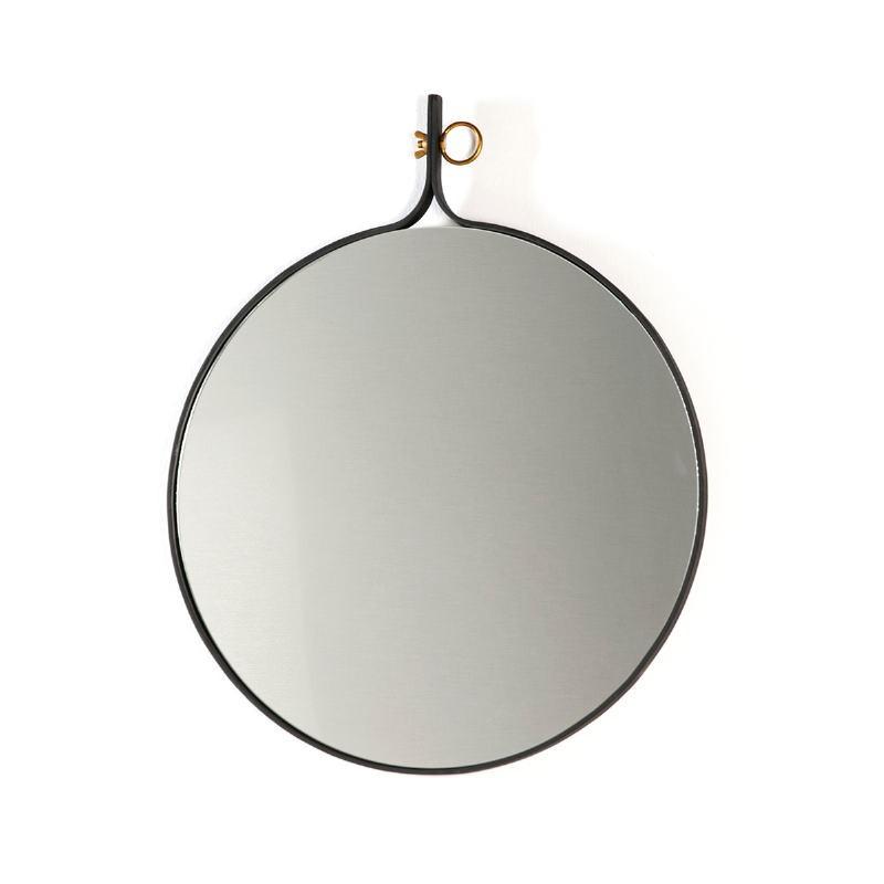 Miroir 61x3x75 Verre Métal Doré Noir - image 51530