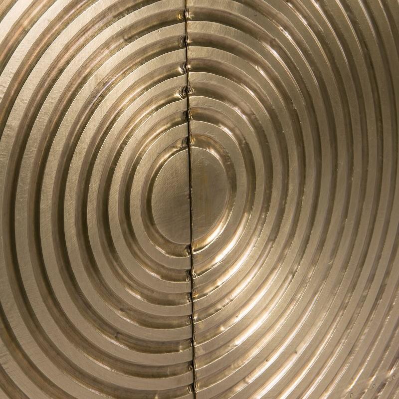 Mueble Bar 91X56X152 Madera Dorado Negro Metal Negro - image 51551