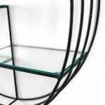 Regale 91X23X91 Glas / Metall Schwarz