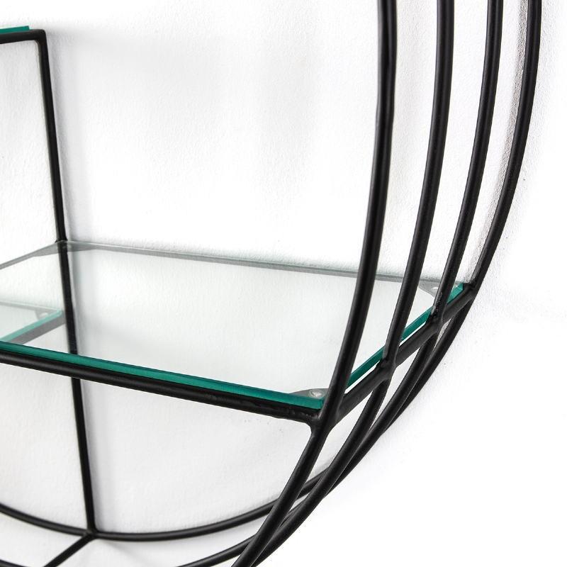 Shelf 91X23X91 Glass Metal Black - image 51597