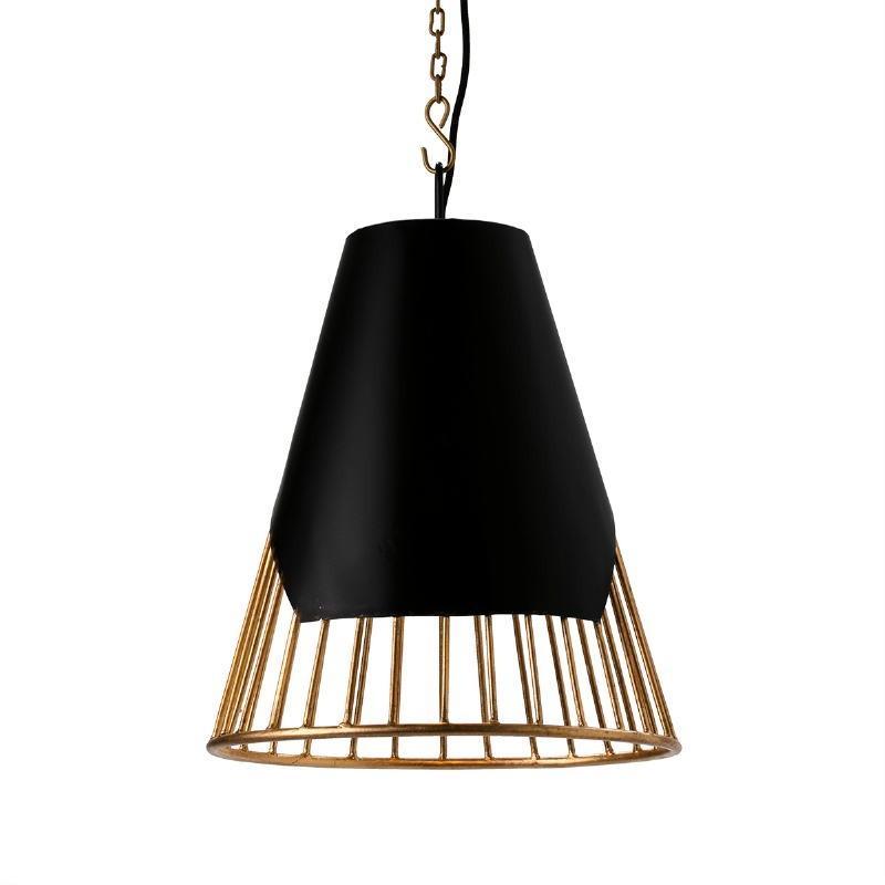 Hanging Lamp 40X40X53 Metal Golden Black - image 51604