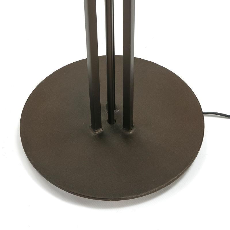 Lampada A Stelo Con Paralume 28X28X165 Metallo Marrone Scuro - image 51607