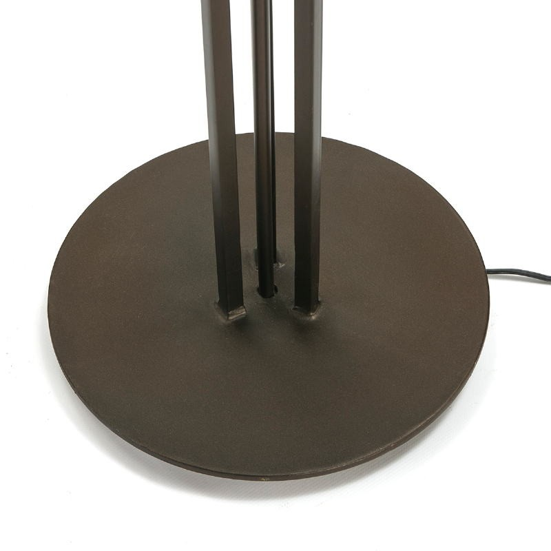 Standard Lamp With Lampshade 28X28X165 Metal Dark Brown - image 51607