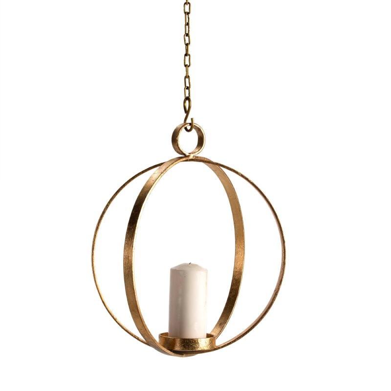 Lampe à suspension Candélabre 34x34x41 Métal Doré - image 51611