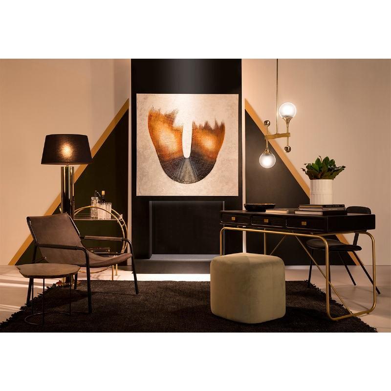 Sessel 74X77X72 Metall/Haut Schwarz - image 51613
