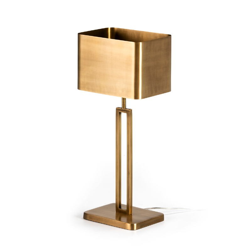 Table Lamp With Lampshade 24X15X55 Metal Golden
