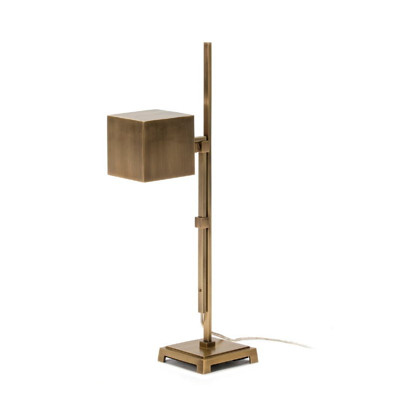Lampada Da Tavolo 25X12X55 Metallo Dorato - image 51645