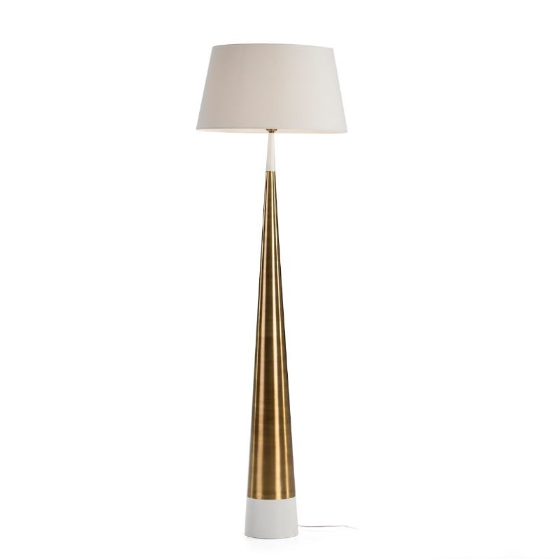 Lampadaire sans abat-jour 18x18x140 Métal Blanc Doré - image 51649