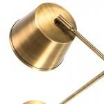 Lampara De Sobremesa 38X18X51 Metal Dorado