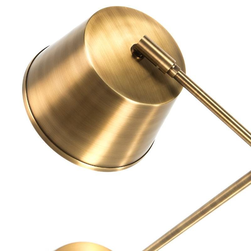 Lampara De Sobremesa 38X18X51 Metal Dorado - image 51653