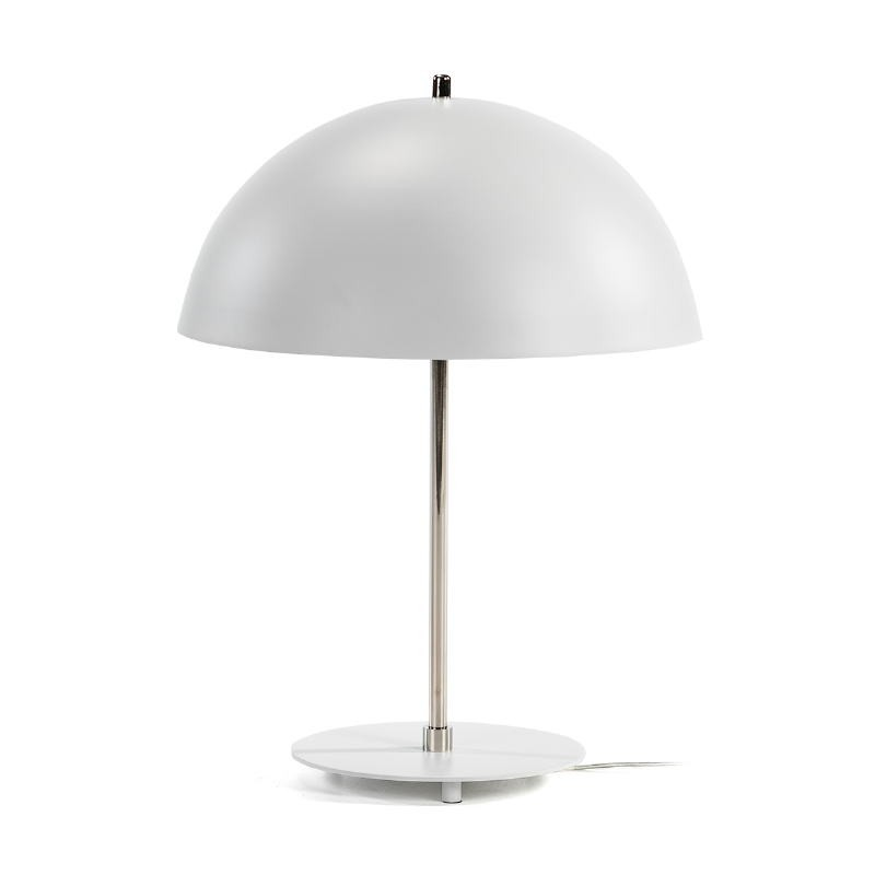 Lampada Da Tavolo 43X43X56 Metallo Bianco Nickel