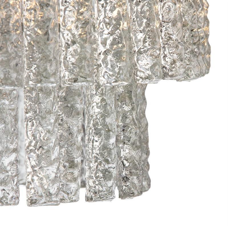 Lampada A Sospensione 39X39X29 Vetro Metallo Argento - image 51719