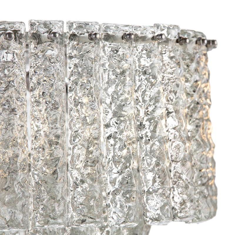 Lampada A Sospensione 39X39X29 Vetro Metallo Argento - image 51720