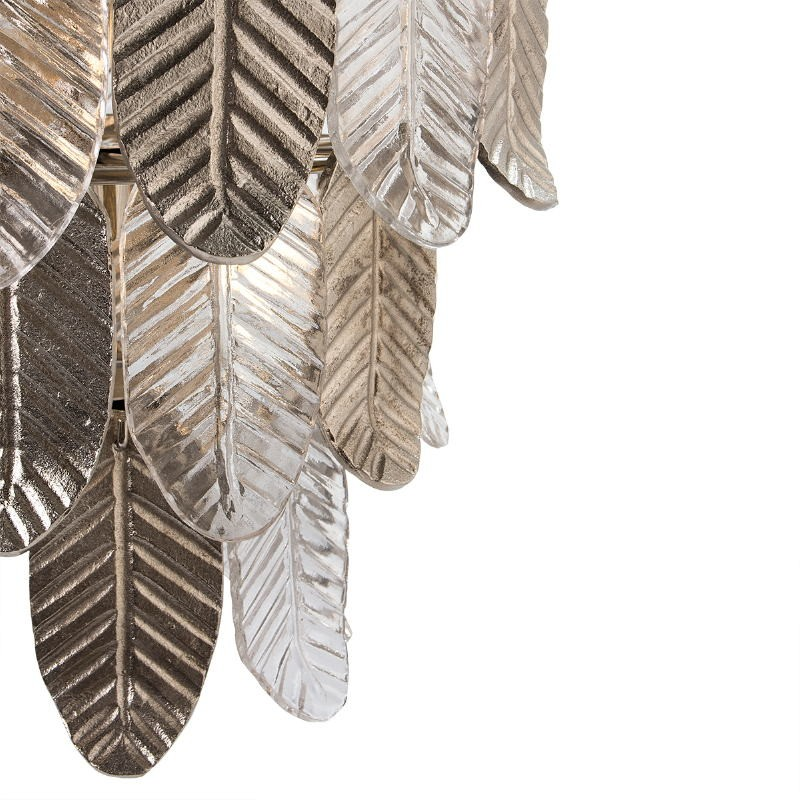 Hanging Lamp 46X46X43 Glass Metal Silver - image 51722