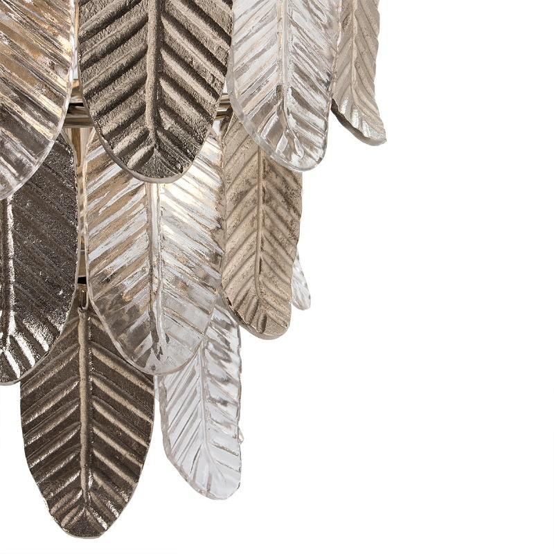 Lampara De Techo 46X46X43 Cristal Metal Plateado - image 51722