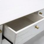 Meuble TV 2 portes 2 tiroirs 160x40x50 Bois Blanc