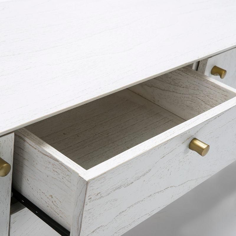 Fernsehschrank 2 Türen 2 Schubladen 160X40X50 Holz Weiß - image 51788