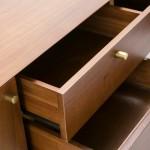 Fernsehschrank 2 Türen 2 Schubladen 160X40X50 Holz Braun/Schwarz