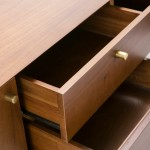 Meuble TV 2 portes 2 tiroirs 160x40x50 Bois Brun Noir