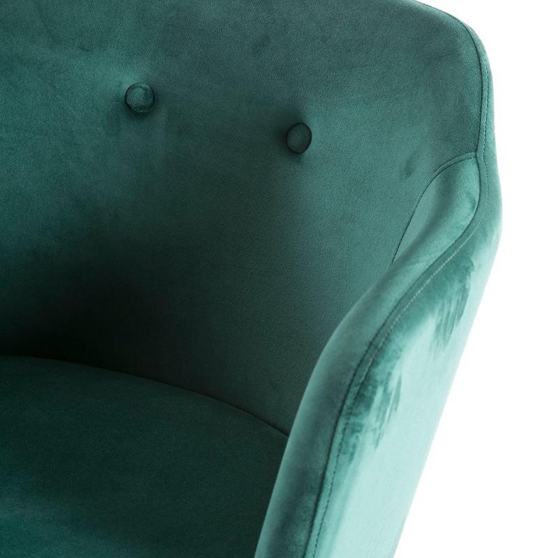 Chair 61X48X78 Wood Black Fabric Green - image 51825