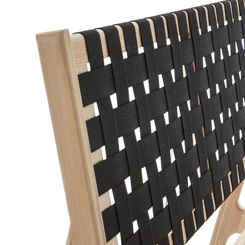 Bed 112X205X97 Ash Wood Natural Fabric Black - image 51836