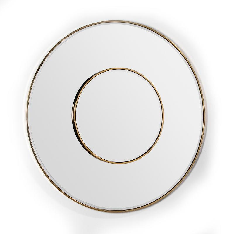 Spiegel 120X4X120 Glas / Metall Golden