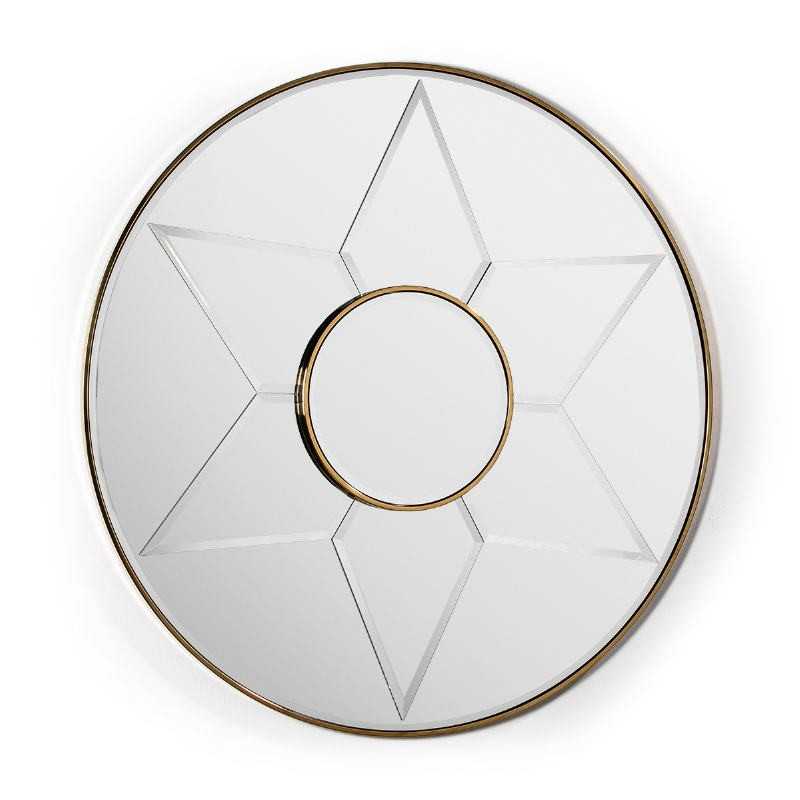 Spiegel 120X4X120 Glas / Metall Golden Modell 2 - image 51844