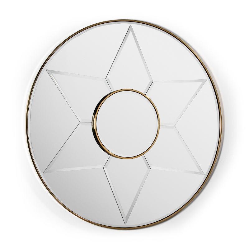Mirror 120X4X120 Glass Metal Golden Model 2 - image 51844