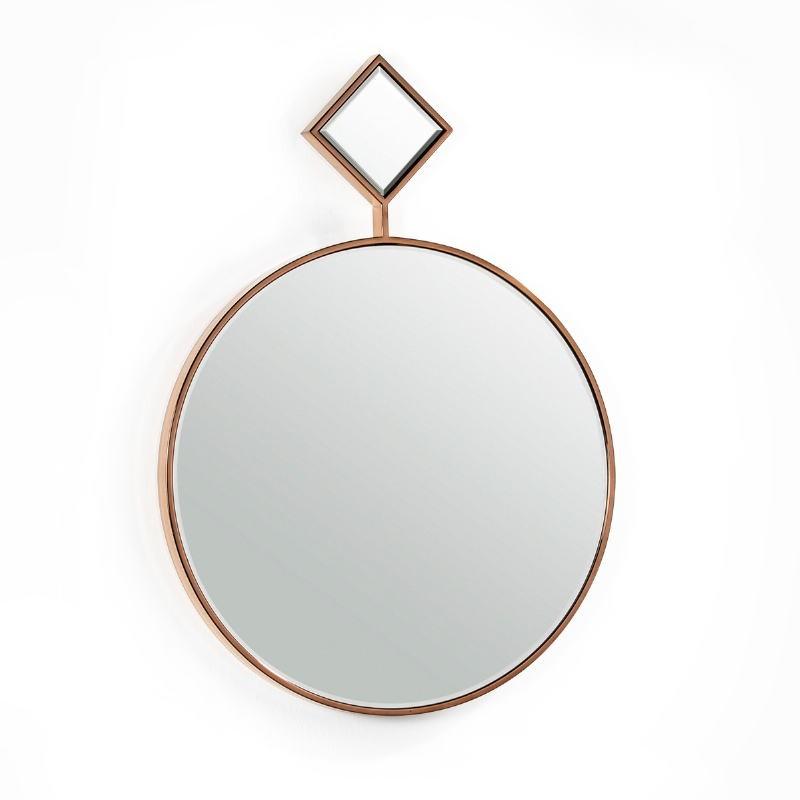 Specchio 65X4X90 Vetro Metallo Dorato